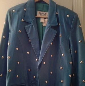 Jackets & Blazers - Leather studded jacket